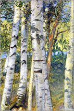 Gallery print  Birch trunks - Carl Larsson