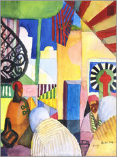 Gallery Print  In the Bazar - August Macke