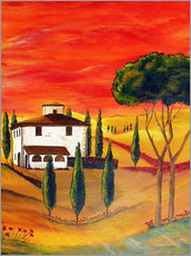 Wall sticker  Warmth of Tuscany - Christine Huwer