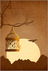 Gallery print  Freedom from the golden cage - Monika Jüngling