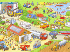 Gallery print  Cars, search and find: In the countryside - Stefan Seidel