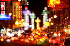 Wall sticker  Neon lights in Bangkok's Chinatown - HADYPHOTO