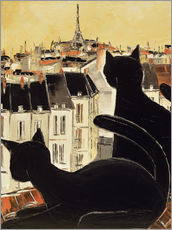Wall sticker  Black cats on Parisian roof - JIEL