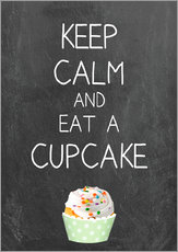 Gallery print  Keep calm and eat a cupcake on chalkboard - GreenNest