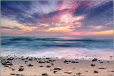 Wall sticker  beach and purple sunset - Sascha Kilmer