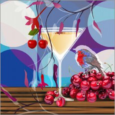 Wall sticker  Vintage Birdy Cocktail IV - Mandy Reinmuth