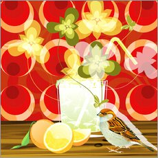 Wall sticker  Vintage Birdy Cocktail III - Mandy Reinmuth