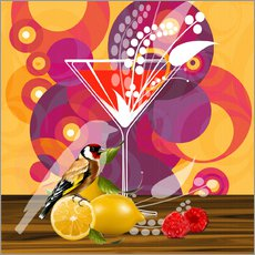 Gallery print  Vintage Birdy Cocktail I - Mandy Reinmuth