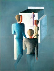 Gallery print  Four figures and cube - Oskar Schlemmer