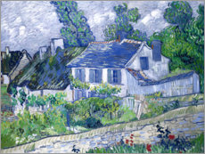 Premium poster  Houses in Auvers - Vincent van Gogh