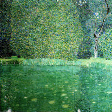 Premium poster  Castle Pond in Kammer at Attersee - Gustav Klimt