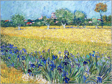 Wall sticker  View of Arles with Irises in the Foreground - Vincent van Gogh