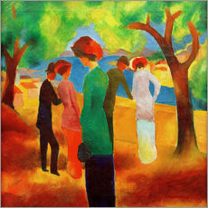 Wall sticker  Lady in a green jacket - August Macke