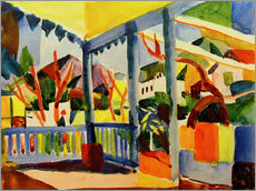 Wall sticker  Terrace of the country house in St. Germain - August Macke