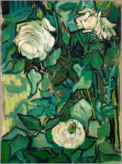 Gallery print  Roses and Beetle - Vincent van Gogh