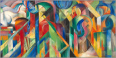 Wood print  Stables - Franz Marc