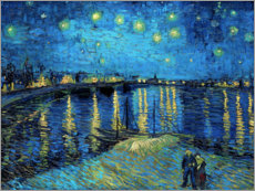 Wood print  Starry Night Over the Rhone - Vincent van Gogh