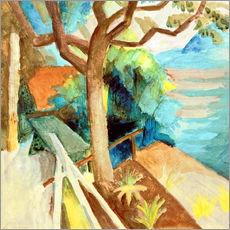Wall sticker  After Sunset by the Lake - August Macke