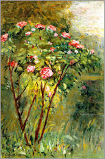 Wall sticker  The rose bush - Gustave Caillebotte
