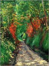 Gallery print  Forest path - Gustave Caillebotte