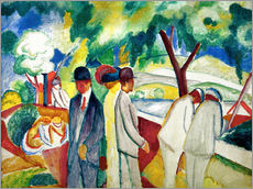 Gallery print  People Strolling - August Macke
