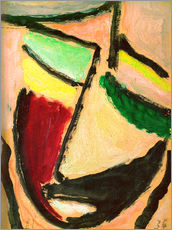 Gallery print  Small abstract head - Alexej von Jawlensky