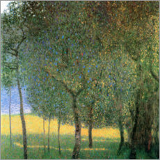 Premium poster  Fruit trees on Attersee - Gustav Klimt