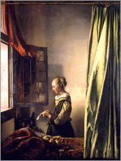 Wall sticker  Girl reading a letter at an open window - Jan Vermeer