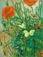 Premium poster  Butterflies and poppies - Vincent van Gogh