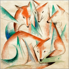 Canvas print  Four foxes - Franz Marc