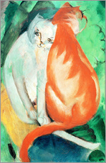 Wall sticker  Cats, red and white - Franz Marc