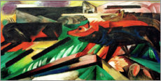 Aluminium print  The Wolves (Balkan War) - Franz Marc