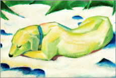 Foam board print  Dog lying in the snow - Franz Marc