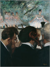 Wall sticker  Orchestra Members - Edgar Degas