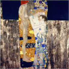 Wood print  The Three Ages - Gustav Klimt
