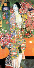 Wood print  The dancer - Gustav Klimt