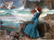Acrylic print  Miranda, the storm - John William Waterhouse