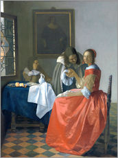 Wall sticker  The girl with the wine glass - Jan Vermeer