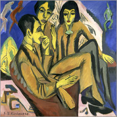 Gallery print  Group of artists, a conversation among artists - Ernst Ludwig Kirchner