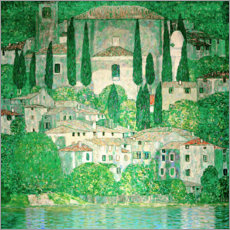Foam board print  Church in Cassone - Gustav Klimt