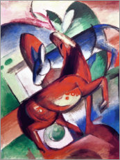Canvas print  Horse and donkey - Franz Marc