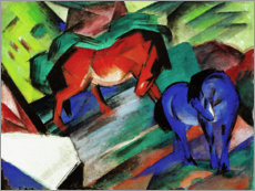 Premium poster  Red and Blue Horses - Franz Marc