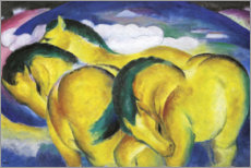 Canvas print  The Little Yellow Horses - Franz Marc