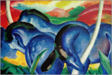 Foam board print  Large blue horses - Franz Marc