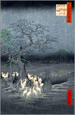 Wall sticker  Foxes meeting at Oji - Utagawa Hiroshige