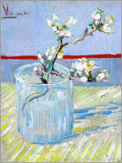 Wall sticker Blossoming almond branch in a glass