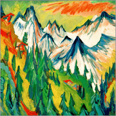 Gallery print  Mountaintop - Ernst Ludwig Kirchner