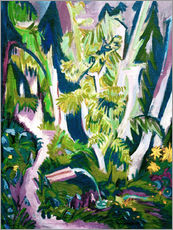 Gallery print  Inside a forest - Ernst Ludwig Kirchner
