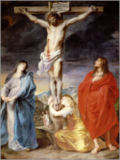 Premium poster  Christ on the Cross with the Virgin, St. John and Mary Magd - Anthonis van Dyck