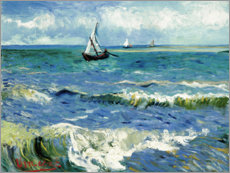 Aluminium print  The sea at Saintes-Maries-de-la-Mer - Vincent van Gogh